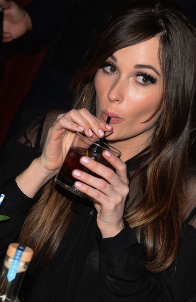 Kacey Musgraves Pink Nail Polish [hair,lip,nail,beauty,eyebrow,hairstyle,long hair,brown hair,black hair,fashion,cocktails,kacey musgraves hosts official party for zodiac vodka,kacey musgraves,judges,grammy award,tennessee,official party,zodiac vodka,acme feed seed,debut]