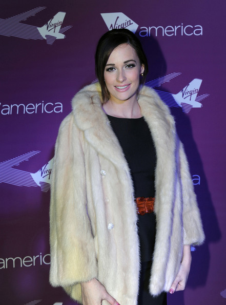 Kacey Musgraves Fur Coat [fur clothing,fur,clothing,fashion,outerwear,textile,electric blue,fashion accessory,natural material,flooring,kacey musgraves,handout image,red carpet,grammy,dallas,dal airport,virgin america arrives at dallas love field,virgin america airlines,flights,arrivals]