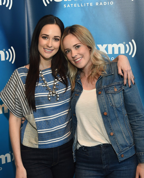Kacey Musgraves Print Blouse [jeans,denim,youth,fashion,event,fun,textile,premiere,long hair,style,kacey musgraves,kelly musgraves,buzz brainard,siriusxm the highway,nashville,tennessee,siriusxm nashville,siriusxm studios]