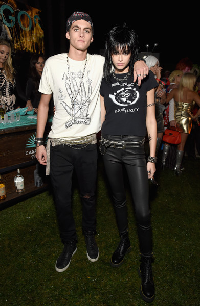 Kaia Gerber Graphic Tee [footwear,product,fashion,fun,cool,flooring,event,fashion design,costume,punk fashion,footwear,product,kaia jordan gerber,presley gerber,rande gerber,fashion,costume,beverly hills,casamigos halloween party,l,kaia jordan gerber,rande gerber,cindy crawford,rita ora,casamigos,party,beverly hills,singer,halloween,costume]