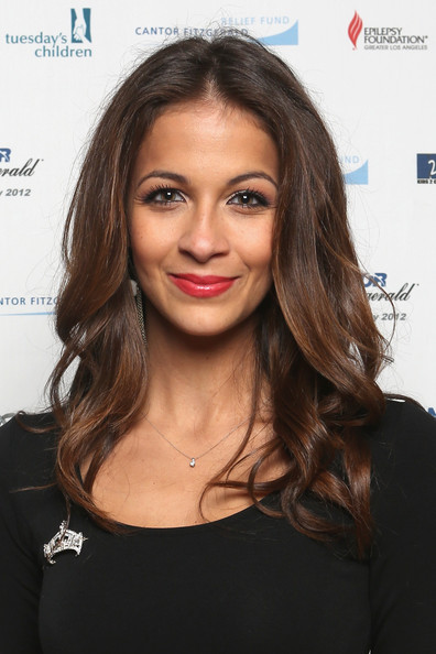 Kaitlin Monte Pink Lipstick [cantor fitzgerald,charities,bgc partners host annual charity,hair,face,hairstyle,eyebrow,lip,chin,long hair,beauty,skin,brown hair,new york city,kaitlin monte]