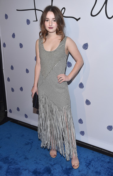 Kaitlyn Dever Fringed Dress [clothing,dress,red carpet,carpet,premiere,hairstyle,fashion,flooring,long hair,shoulder,petra flannery collection,kaitlyn dever,tyler ellis celebrates,tyler ellis,petra flannery collection - arrivals,chateau marmont,california,los angeles,launch,5th anniversary and launch of tyler ellis]