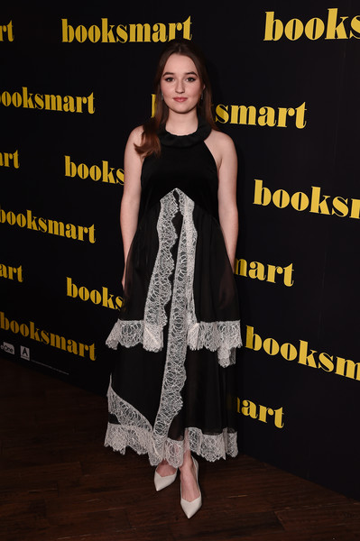 Kaitlyn Dever Pumps [booksmart,premiere,dress,fashion,event,flooring,cocktail dress,fashion design,carpet,talent show,style,arrivals,kaitlyn dever,london,england,picturehouse central,gala screening,booksmart gala screening]