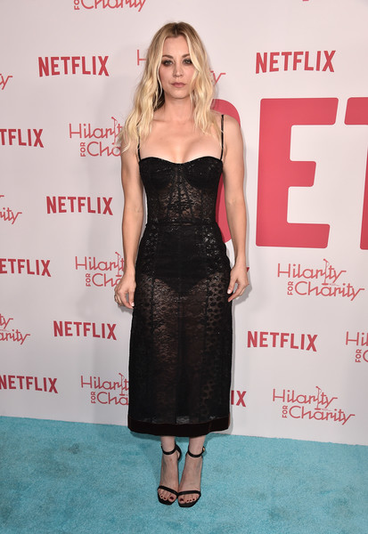Kaley Cuoco Sheer Dress