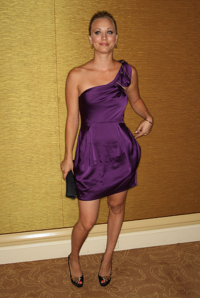 Kaley Cuoco Peep Toe Pumps [clothing,dress,cocktail dress,shoulder,fashion model,purple,fashion,joint,satin,leg,arrivals,kaley cuoco,portion,pasadena,california,the langham huntington hotel spa,pbs,television critics association awards,summer television critics association press tour]