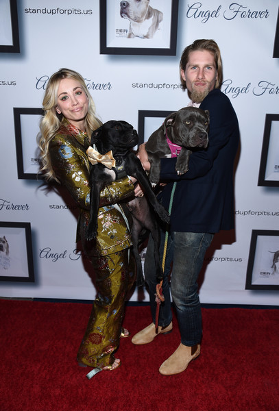 More Pics of Kaley Cuoco Pantsuit (5 of 26) - Suits Lookbook - StyleBistro [carpet,fur,kaley cuoco hosts 9th annual stand up for pits,kaley cuoco,todd,karl cook,pitbulls,california,los angeles,blue,event,9th annual stand up for pits]