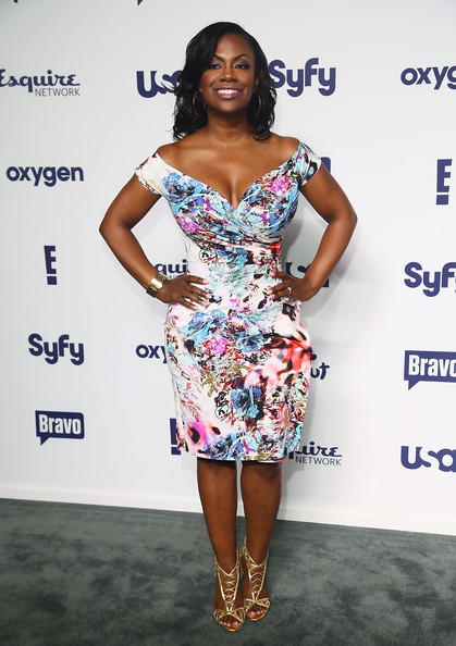 Kandi Burruss Off-the-Shoulder Dress