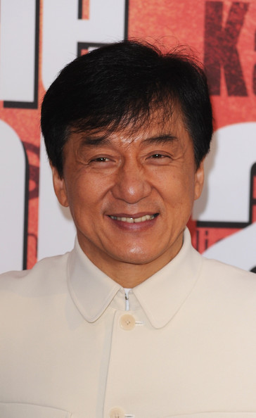 More Pics of Jackie Chan Men's Suit (1 of 11) - Jackie Chan Lookbook - StyleBistro [the karate kid,forehead,chin,official,smile,jackie chan,photocall,paris,france,le grand rex,film premiere,paris premiere]