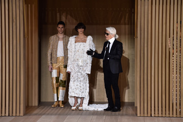 Karl Lagerfeld Baptiste Giabiconi Chanel : Runway - Paris Fashion Week - Haute Couture Spring Summer 2016