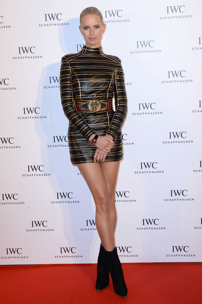 Karolina Kurkova Leather Dress