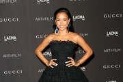 Karrueche Tran Strapless Dress