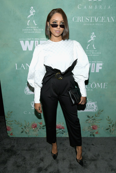 Kat Graham High-Waisted Pants
