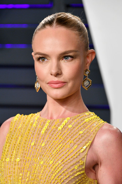 Kate Bosworth Classic Bun [oscar party,vanity fair,hair,fashion,hairstyle,eyebrow,beauty,shoulder,yellow,lip,blond,chin,beverly hills,california,wallis annenberg center for the performing arts,radhika jones - arrivals,radhika jones,kate bosworth]