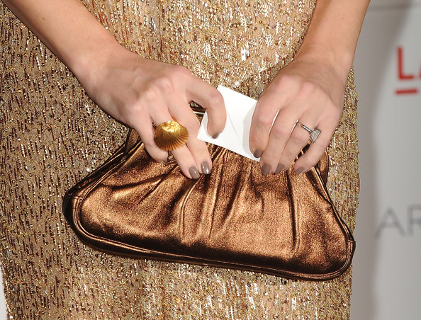 Kate Hudson Statement Ring [bag,hand,footwear,handbag,nail,finger,fashion accessory,art film gala 2011 - arrivals,kate hudson,clint eastwood,john baldessari,lacma,california,los angeles,art and film gala]