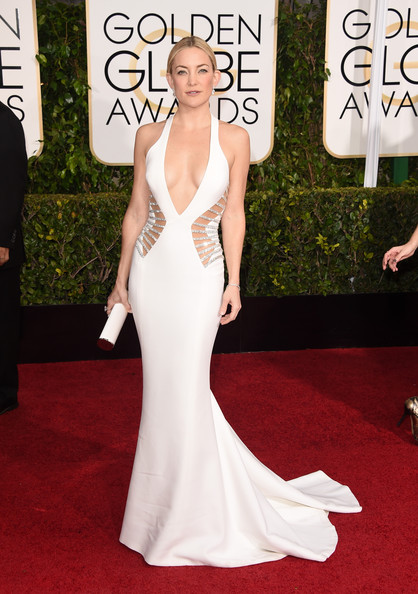 Kate Hudson Cutout Dress [gown,flooring,dress,carpet,fashion model,red carpet,beauty,lady,shoulder,formal wear,arrivals,kate hudson,beverly hills,california,the beverly hilton hotel,annual golden globe awards]