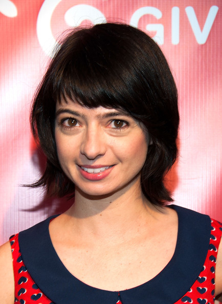 Kate Micucci Short Cut With Bangs [hair,face,hairstyle,eyebrow,bangs,chin,forehead,black hair,lip,layered hair,arrivals,kate micucci,2nd annual hilarity for charity event,hollywood,california,avalon,hilarity for charity event]