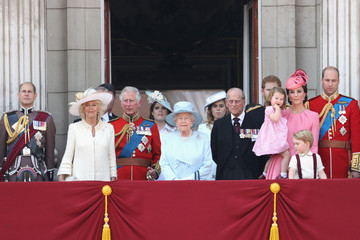 Kate Middleton Camilla Parker Bowles Trooping the Colour 2017