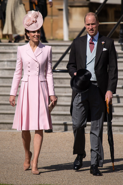 Kate Middleton Tuxedo Dress [clothing,fashion,street fashion,lady,pink,suit,coat,human,formal wear,dress,prince william,catherine middleton,coat,duchess,fashion,buckingham palace,cambridge,party,queen hosts garden party,royal garden party,prince william duke of cambridge,elizabeth ii,buckingham palace,wedding of prince william and catherine middleton,coat,palace,party,tuxedo,alexander mcqueen coat]