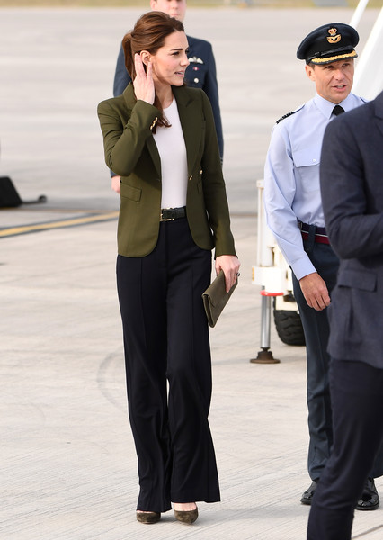 Kate Middleton Pumps [catherine,prince william,military personnel,families,personnel,duchess,suit,clothing,blazer,pantsuit,formal wear,standing,lady,white-collar worker,fashion,street fashion,cyprus,the duke duchess of cambridge,cambridge,raf akrotiri]