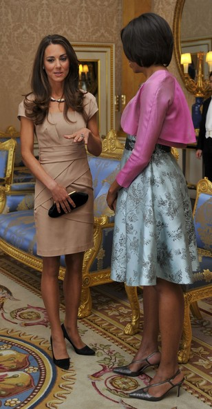 Kate Middleton Long Straight Cut [day one,michelle obama,barack obama,president,wife,duchess,us,uk,buckingham palace,state banquet]