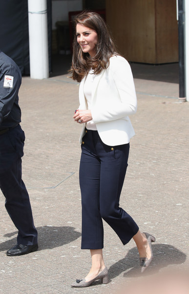 Kate Middleton Capri Pants [white,clothing,street fashion,leg,waist,snapshot,footwear,tights,lady,jeans,duchess of cambridge,catherine,patron,attends,duchess,roadshow,cambridge,trust roadshow,trust,docklands sailing and watersports centre,catherine duchess of cambridge,trousers,fashion,clothing,capri pants,prince,duchess of cambridge,duke,dress,j.crew]