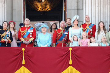 Kate Middleton Prince Harry HM The Queen Attends Trooping The Colour