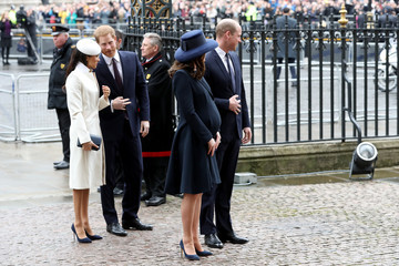 Kate Middleton Prince Harry Commonwealth Day Service And Reception