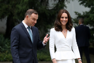 Kate Middleton Prince William The Duke And Duchess Of Cambridge Visit Poland - Day 1