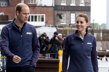 Kate Middleton Prince William The Duke and Duchess of Cambridge Attend the America's Cup World Series