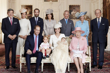 Kate Middleton Queen Elizabeth II Official Photographs of Princess Charlotte's Christening