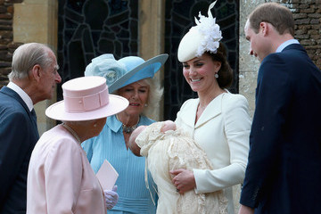 Kate Middleton Queen Elizabeth II Princess Charlotte's Christening