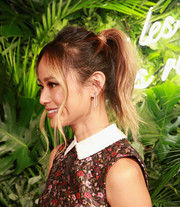 Jamie Chung worked a messy-sexy ponytail at the Kate Spade presentation.