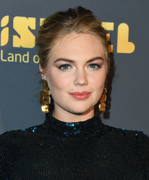 Kate Upton Gold Dangle Earrings