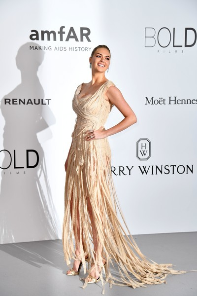 Kate Upton Fringed Dress