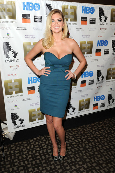 Kate Upton Strapless Dress