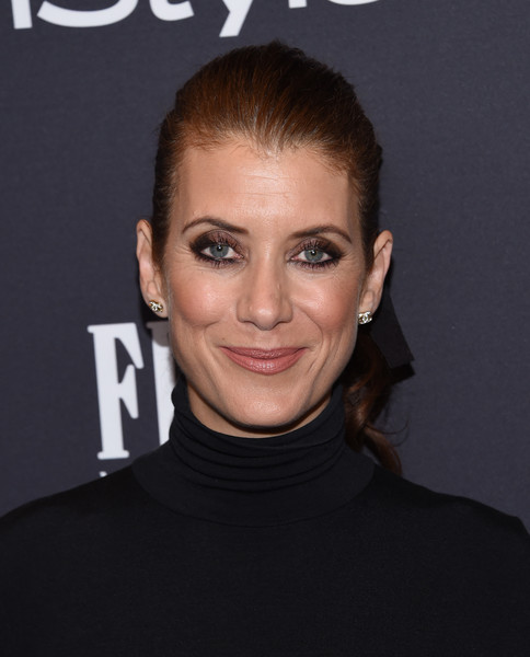 Kate Walsh Ponytail [photo,hair,face,eyebrow,hairstyle,facial expression,forehead,chin,lip,head,beauty,kate walsh,chris delmas,catch la,west hollywood,hollywood foreign press association,instyle,golden globe awards,celebration,season]