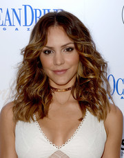 Katharine McPhee looked fabulous with her windblown waves while celebrating her Ocean Drive Magazine cover.