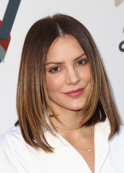 Katharine McPhee Medium Layered Cut [hair,face,hairstyle,eyebrow,blond,chin,brown hair,layered hair,long hair,lip,steven tyler,katharine mcphee,california,los angeles,live nation,inaugural janies fundgala grammy viewing party,red studios,inaugural janies fund gala grammy viewing party]