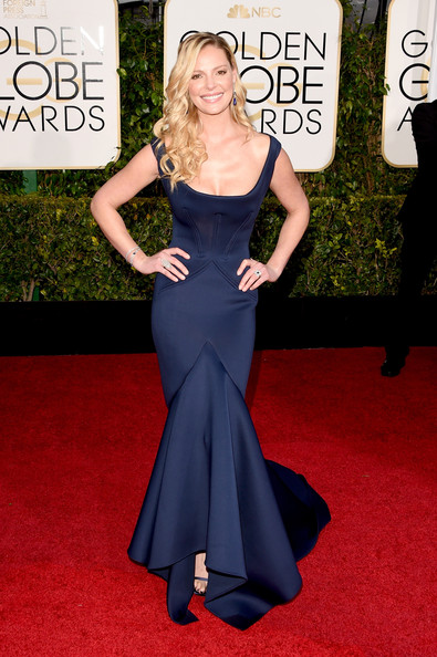 Katherine Heigl Mermaid Gown [red carpet,carpet,clothing,dress,shoulder,gown,flooring,fashion,premiere,fashion model,arrivals,katherine heigl,beverly hills,california,the beverly hilton hotel,annual golden globe awards]