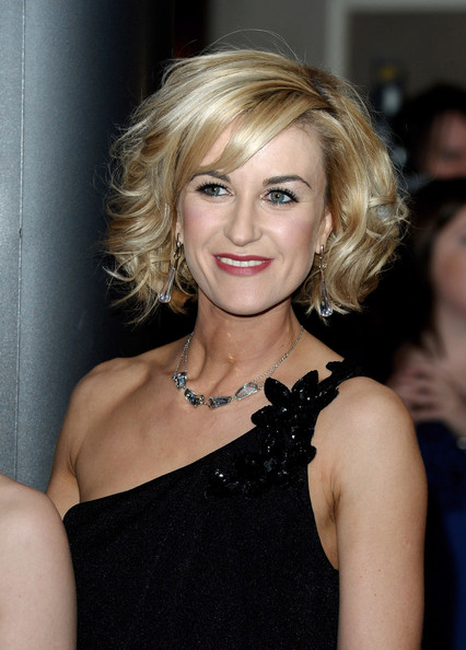 Katherine Kelly Curled Out Bob [hair,blond,hairstyle,face,eyebrow,lip,chin,beauty,shoulder,long hair,rts programme awards,london,england,grosvenor house hotel,arrivals,katherine kelly]