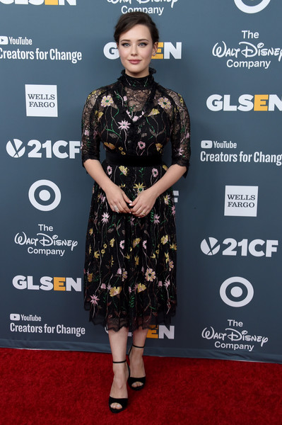 Katherine Langford Lace Dress [red carpet,clothing,carpet,dress,fashion,premiere,hairstyle,fashion model,flooring,footwear,arrivals,katherine langford,glsen respect awards,beverly wilshire four seasons hotel,beverly hills,california]