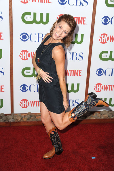 Kathleen Rose Perkins Cowboy Boots [red carpet,carpet,footwear,dress,premiere,leg,thigh,muscle,flooring,arrivals,kathleen rose perkins,beverly hills,california,cbs,the cw showtime,party,tca,tca party,showtime]