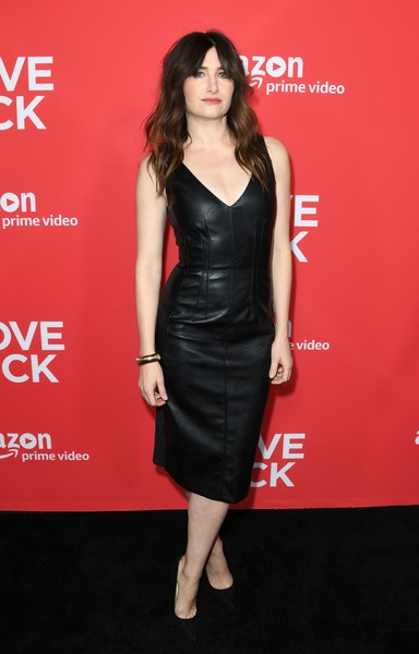 Kathryn Hahn Leather Dress