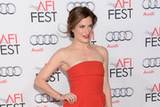 Kathryn Hahn Strapless Dress