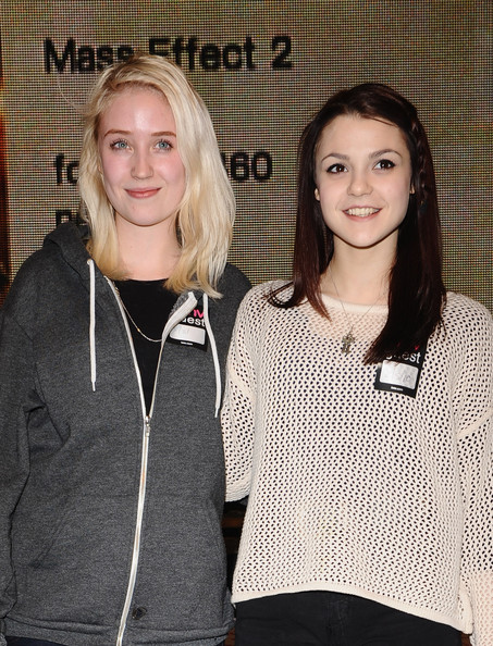 Kathryn Prescott Long Braided Hairstyle [skins - the novel,outerwear,fashion,blond,event,neck,long hair,fashion design,style,sleeve,lily loveless,kathryn prescott,photocall,appearance,england,london,oxford street,hmv,skins - book signing]