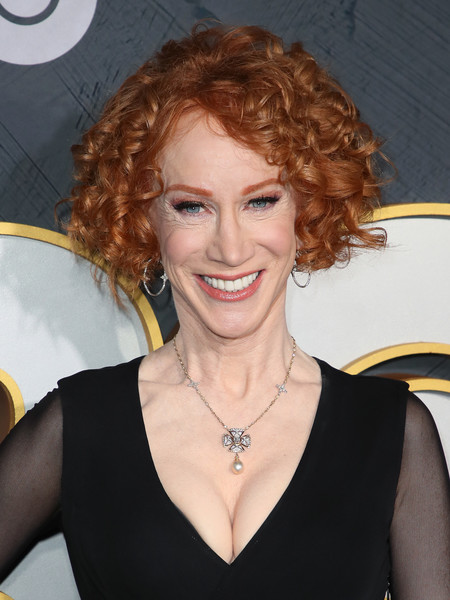 Kathy Griffin Curled Out Bob [photograph,hair,face,hairstyle,blond,beauty,eyebrow,chin,lip,smile,red hair,kathy griffin,post emmy awards,hair,primetime emmy awards,face,california,hbo,reception,post emmy awards reception,kathy griffin,71st primetime emmy awards,11th annual shorty awards,kathy griffin: a hell of a story,creative arts emmy award,2019,hbo,photograph]