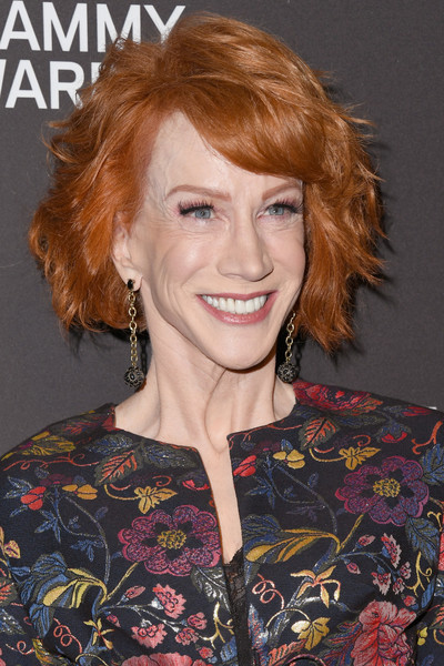 Kathy Griffin Short Wavy Cut [hair,hairstyle,face,red hair,chin,eyebrow,hair coloring,blond,lip,brown hair,arrivals,clive davis,kathy griffin,beverly hills,california,the beverly hilton hotel,recording academy,2019 pre-grammy gala]