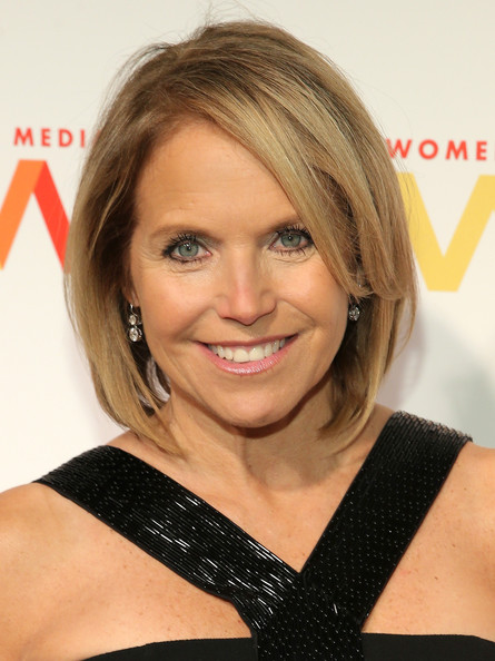 Katie Couric Bob [hair,face,hairstyle,blond,eyebrow,chin,shoulder,bob cut,layered hair,forehead,arrivals,katie couric,womens media awards,capitale,new york city]