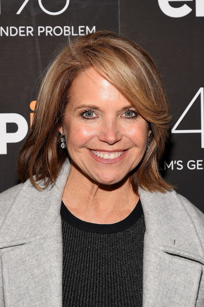 Katie Couric Bob [hair,face,hairstyle,blond,eyebrow,chin,brown hair,layered hair,lip,forehead,katie couric,films gender problem,museum of art and design,new york premiere]