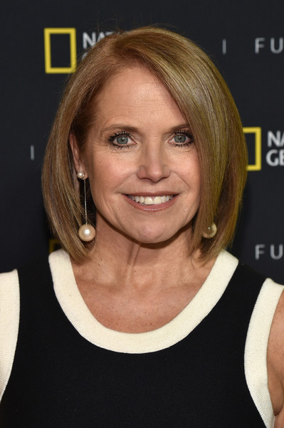 Katie Couric Bob [red carpet,hair,chin,hairstyle,human hair color,eyebrow,blond,layered hair,forehead,bob cut,long hair,katie couric,jazz,new york city,lincoln center,national geographic,executive producer,front event]